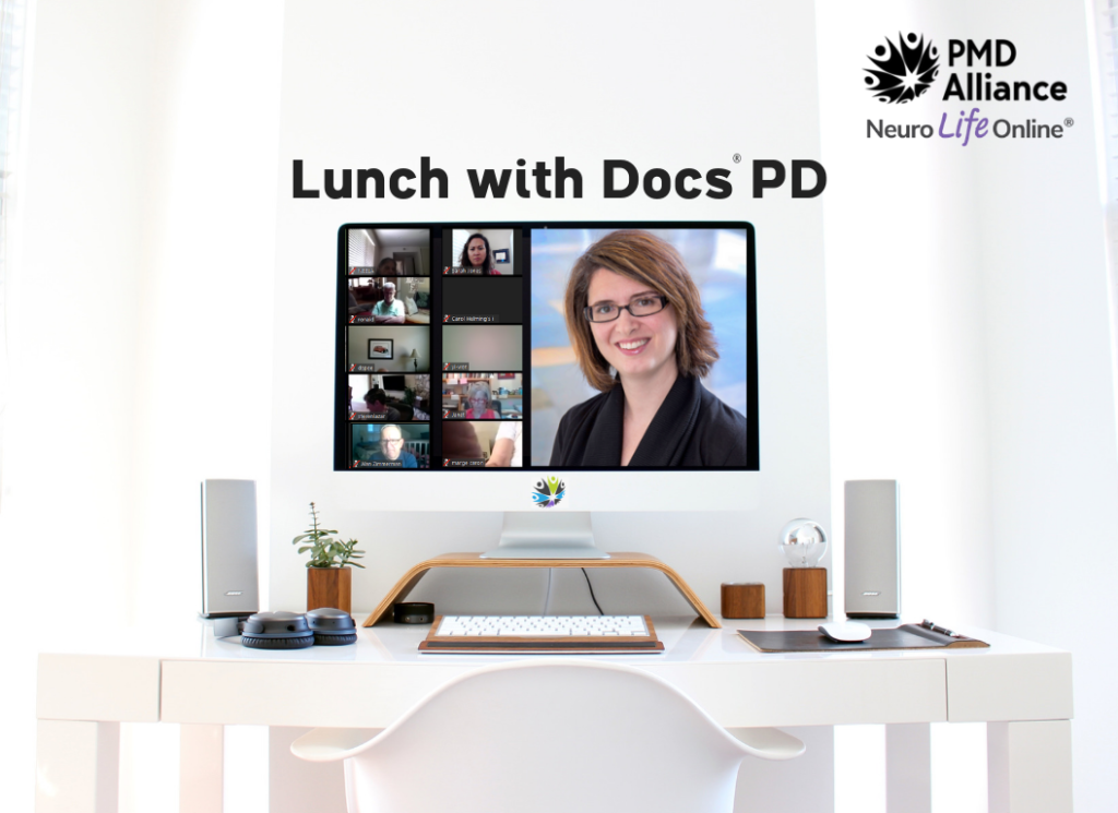 Computer with Lunch with Docs