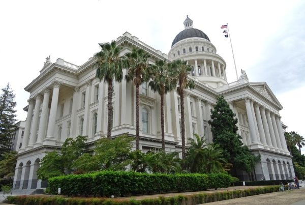 Outside of the California State Capital