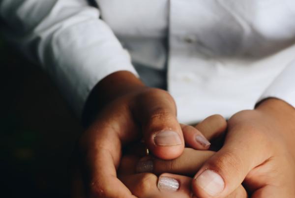 hands embraced